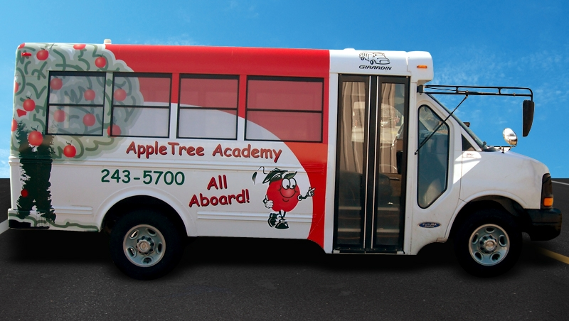Apple Tree Learning School Bus