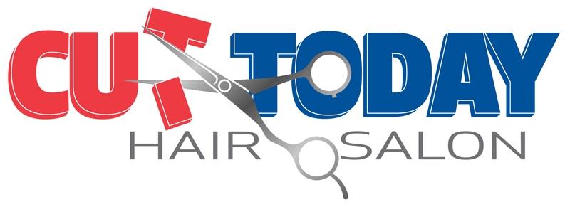 Cut Today Hair Salon logo design