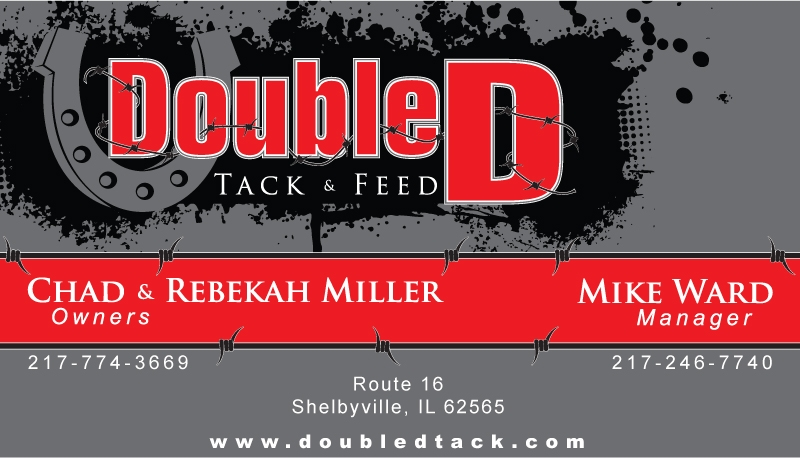 Double D Tack & Feed logo and business card design