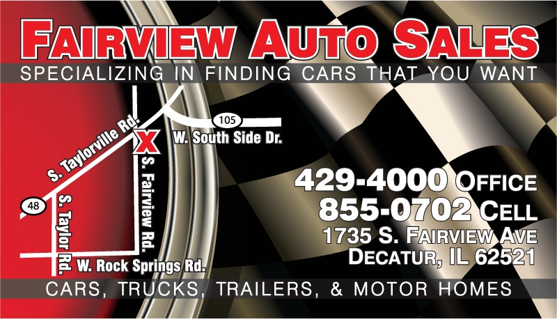 Fairview Auto Sales business card design