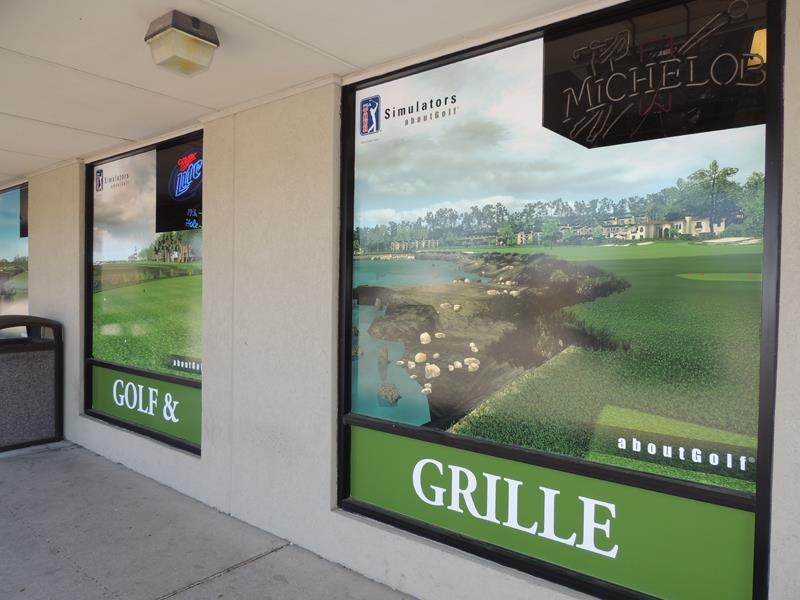 Mc Gorray's Golf & Grille window perf graphics