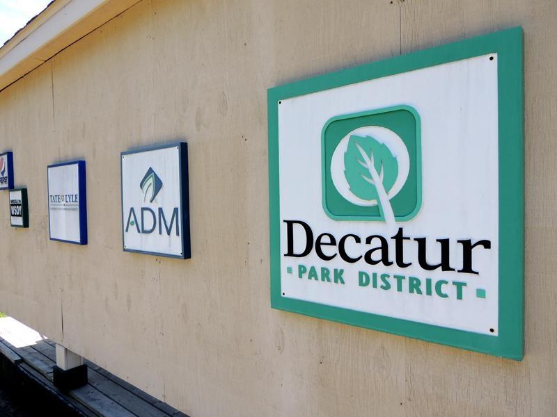 Decatur Park District sandblasted signs