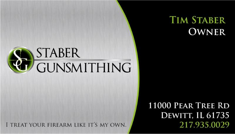 Staber Gunsmithing business card design
