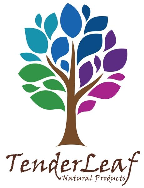 Tender Leaf Natural Products logo design